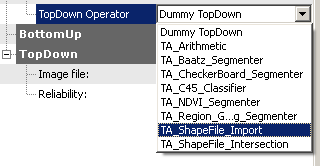 Selecting the top-down operator